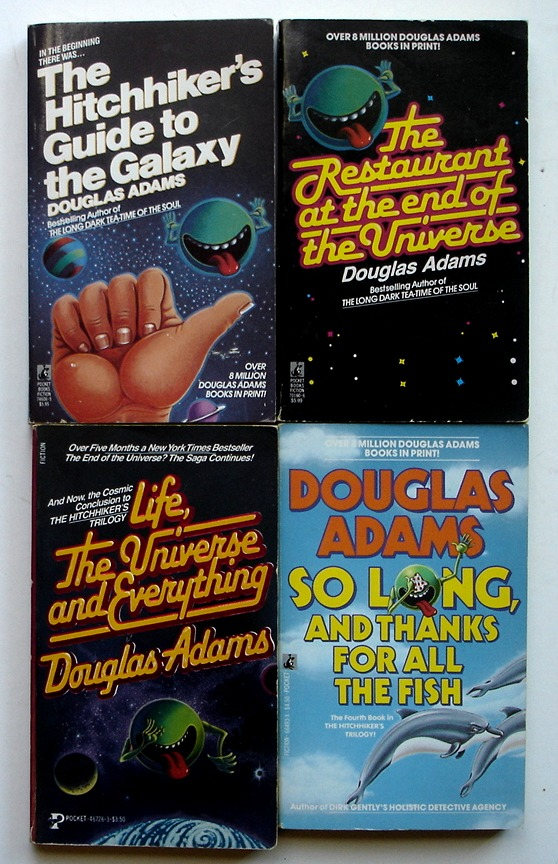 Image for The Galaxy Series, 4 book set: Hitchhiker's Guide to the Galaxy + The Restaurant at the End of the Universe + Life, the Universe, and Everything + So Long, and Thanks for All the Fish
