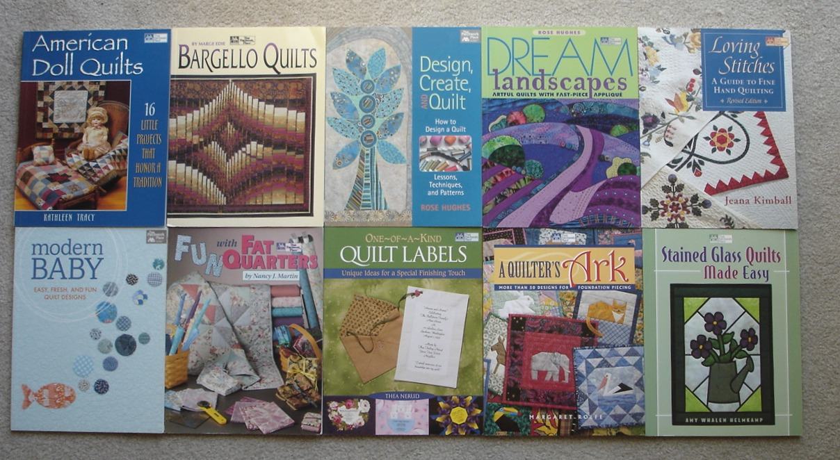 Image for LOT of 10 Modern Quilting Books: American Doll Quilts, Bargello Quilts ...