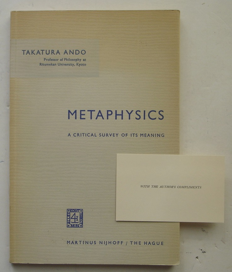Image for Metaphysics: A Critical Survey of its Meaning