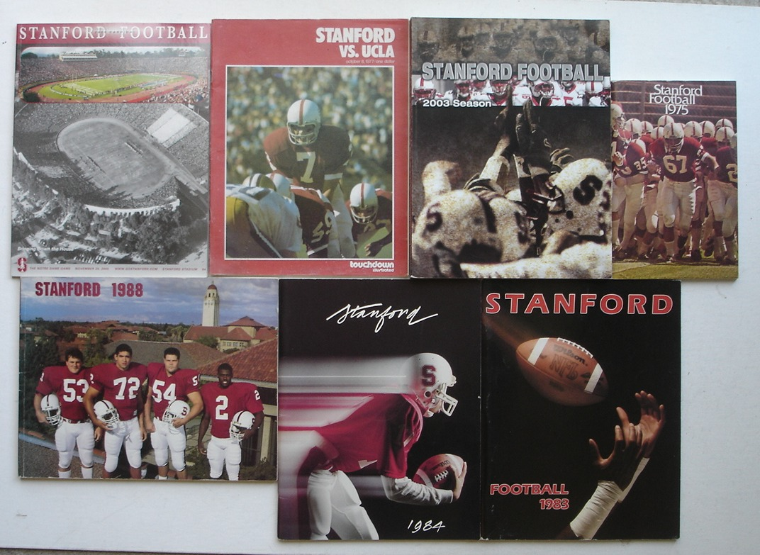 Image for Stanford Football LOT of 7 Media Guides & Game Programs, 1975 - 2005