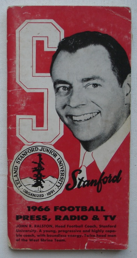 Image for Stanford 1966 Football Media Guide: Press, Radio & TV