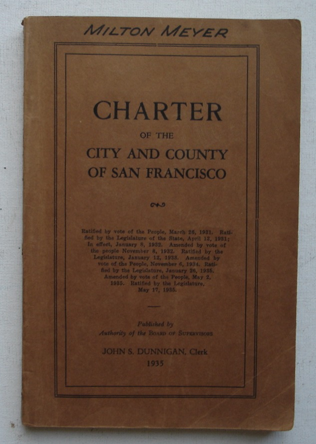 Image for Charter of the City and County of San Francisco