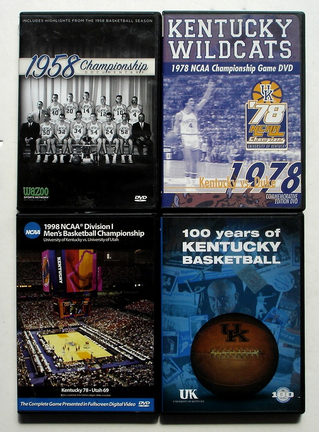 Image for Lot of 4 University of Kentucky Wildcats Basketball DVDs
