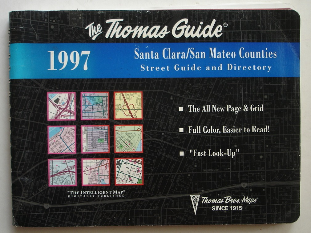 Image for Santa Clara/San Mateo Counties Thomas Guide, 1997