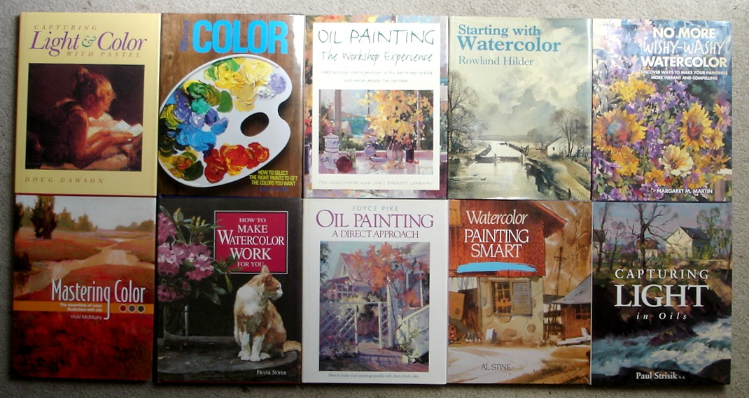 Image for LOT #2 of 10 Hardcover North Light Art Instruction Books