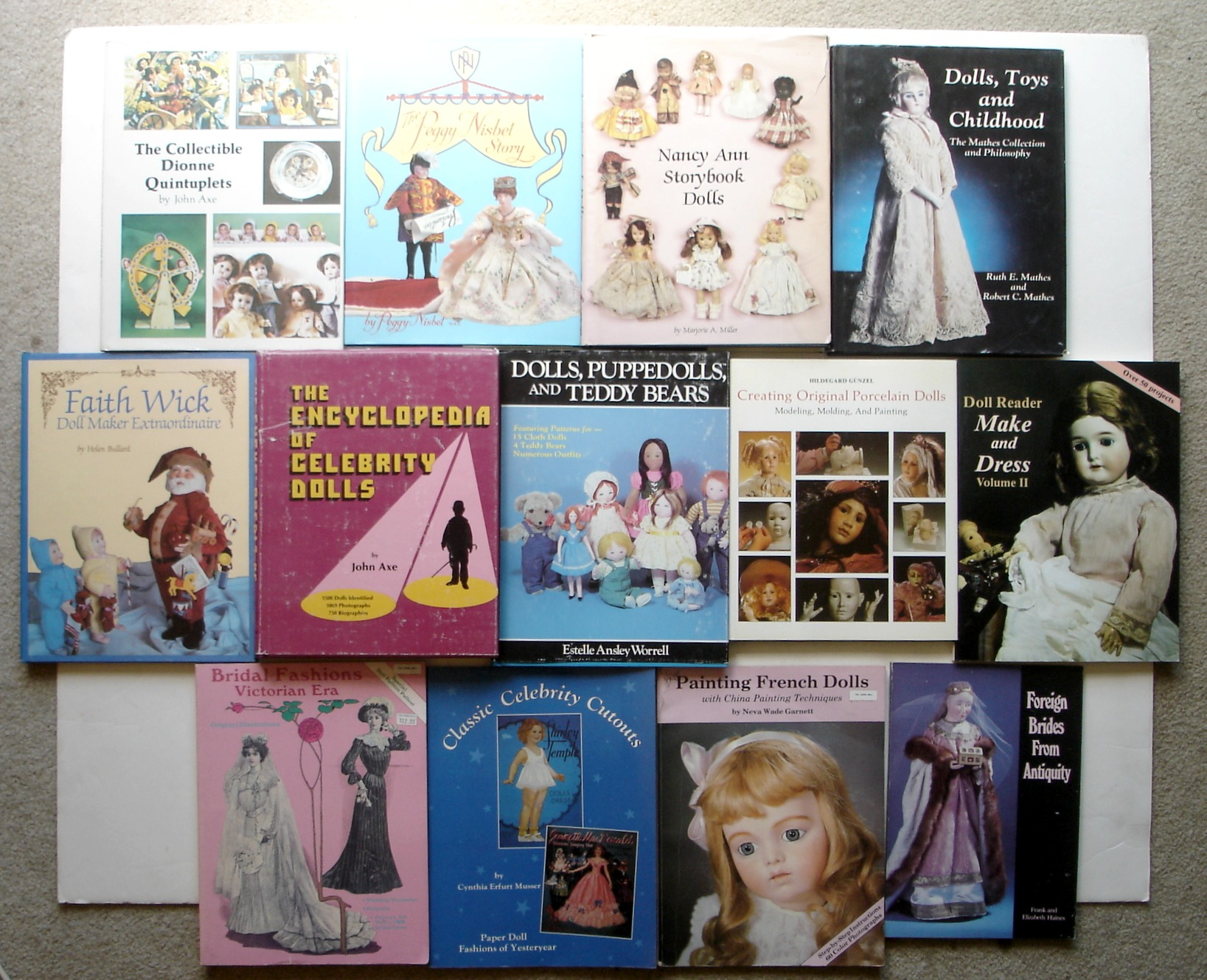 Image for Lot of 13 Hobby House Press Doll Books