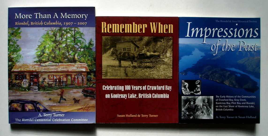Image for Set of 3 Local History Books, East Shore of Kootenay Lake, British Columbia, Canada